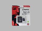 Карта памяти Kingston microSDHC 16GB