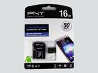 Карта памяти PNY microSDHC 16Gb